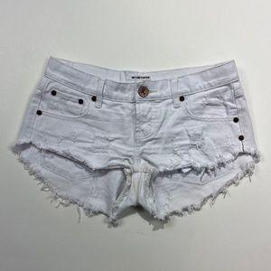 One Teaspoon Bonitas White denim Shorts 25